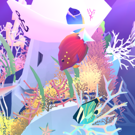 This is Ruby, the white tail tang. Probably my favorite 'non-event' fish in the game. Its coloring is very distinctive compared to most of the other fish. It stands out on the screen and is always easy to find.