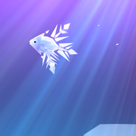 Crystal, my snowflake angelfish.