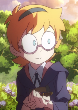 Lotte from Little Witch Academia.